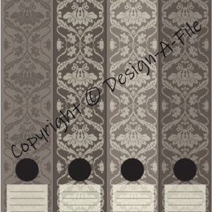 Antique Brown File Labels
