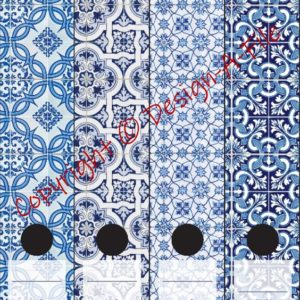 Blue Mosaic File Labels