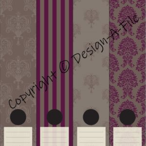 French Purple File Labels