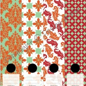 Mint & Orange File Labels