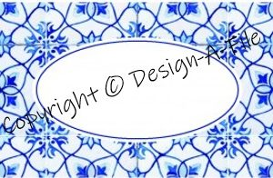 Multi-purpose Labels Blue Mosaic