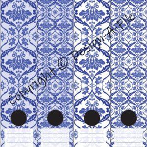 Porcelain Blue File Labels