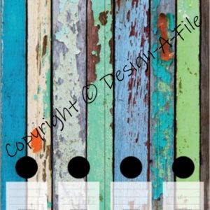 Painted Wood File Labels
