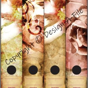 Roses & Lillies File Labels