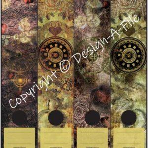 Steampunk File Labels