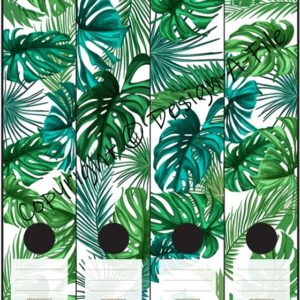 Tropical Leaves File Labels