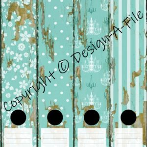 Wooden Chic File Labels