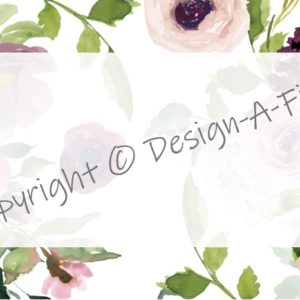 Multi-purpose Labels Burgundy & Blush