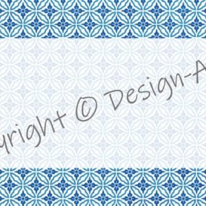Multi-purpose Labels Blue Florals