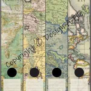 Antique Maps File Labels